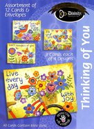 Boxed Cards Thinking of You: Bright Flowers Box
