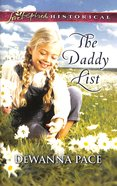 The Daddy List (Love Inspired Series Historical)