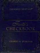 One-Minute Devtions: Faith's Checkbook (Navy) Imitation Leather