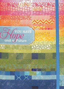 Notebook Journal: Hope With Blue Elastic Closure