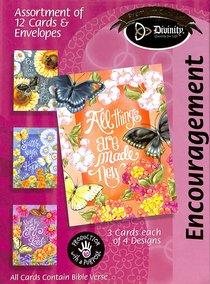 Boxed Cards Encouragement: Butterflies & Flowers