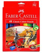 Faber-Castell Classic Colour Pencils Set of 48 + Bonus Sharpener Stationery