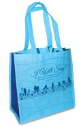 Eco Totes: I Will Sing! Sky Blue With Navy Sides (Psalm 108:1)