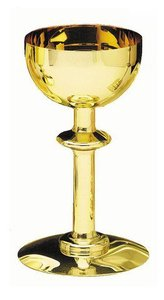 """Chalice: Brass/Gold Lined Round Base (Rw-470br) (7 1/2"""" X 4"""")"""