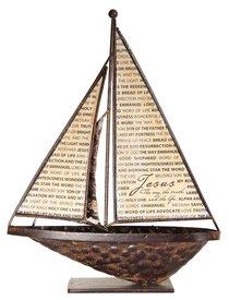 Sailboat Metal Tabletop: Name of Jesus