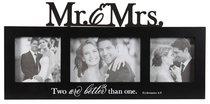 Wall Photo Frame: Mr & Mrs, Black/White (Ecc 4:9)