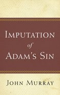 Imputation of Adam's Sin Paperback