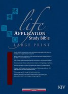 KJV Life Application Study Large Print Burgundy (Red Letter Edition) Bonded Leather