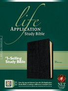 NLT Life Application Study Bible Black (Red Letter Edition) Bonded Leather