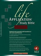 NLT Life Application Study Burgundy (Red Letter Edition) Genuine Leather