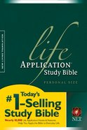 NLT Life Application Study Personal Size (Black Letter Edition) Paperback