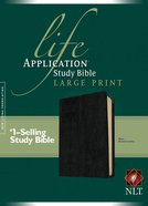 NLT Life Application Study Bible Black Indexed Large Print (Red Letter Edition) Bonded Leather