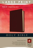 NLT Personal Size Large Print Bible Burgundy Bonded Leather