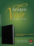 Ntv Biblia De Estudio Del Diario Vivir Indexed Black (Red Letter Edition) Bonded Leather