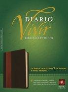 Ntv Biblia De Estudio Del Diario Vivir Brown/Tan (Red Letter Edition) Imitation Leather