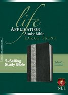 NLT Life Application Large Print Study Bible Black Vintage Ivory Floral (Red Letter Edition)