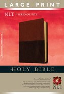 NLT Personal Size Large Print Bible Brown/Tan (Red Letter Edition)
