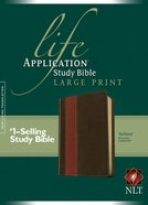 NLT Life Application Study Bible Large Print Brown/Tan (Red Letter Edition)