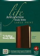 NLT Life Application Study Large Print Bible Indexed Brown/Tan (Red Letter Edition)