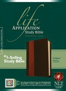 NLT Life Application Study Personal Size Bible Brown Indexed (Black Letter Edition) Imitation Leather