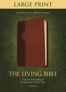 Tlb Living Bible Large Print Brown/Tan (Black Letter Edition) Imitation Leather