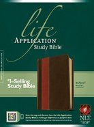 NLT Life Application Study Bible Brown/Tan Indexed (Red Letter Edition) Imitation Leather