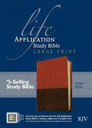 KJV Life Application Large Print Study Bible Indexed (Red Letter Edition) Imitation Leather