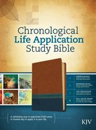 KJV Chronological Life Application Study Bible Brown/Dark Teal/Blue Imitation Leather