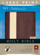 NLT Premium Slimline Reference Bible Large Print Edition Brown/Cream Stripe Imitation Leather