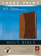 NLT Premium Slimline Reference Bible Indexed Large Print Edition Brown/Tan (Red Letter Edition)