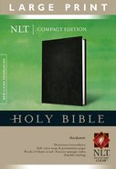 NLT Compact Large Print Bible Black (Red Letter Edition)