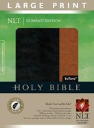 NLT Compact Large Print Bible Indexed Black Tan (Red Letter Edition) Imitation Leather