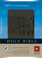 NLT Slimline Reference Bible Ebony Thumb-Indexed Imitation Leather