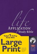 NKJV Life Application Study Bible Large Print Indexed 2nd Edition (Red Letter Edition) Hardback