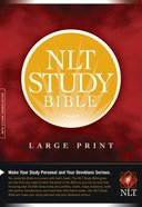 NLT Study Bible Large Print (Red Letter Edition) Hardback