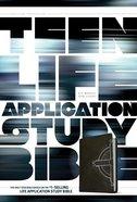 NLT Teen Life Application Study Bible Black Celtic Cross (Black Letter Edition) Imitation Leather