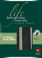NLT Life Application Study Indexed Bible Large Print Black/Vintage Ivory Floral (Red Letter Edition) Premium Imitation Leather