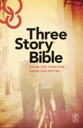 NLT Three Story Bible (Black Letter Edition) Hardback