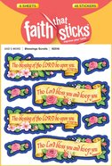 Blessings Scrolls (6 Sheets, 48 Stickers) (Stickers Faith That Sticks Series)