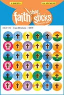 Cross Miniatures (6 Sheets, 216 Stickers) (Stickers Faith That Sticks Series) Stickers