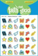 Religious Miniatures (6 Sheets, 216 Stickers) (Stickers Faith That Sticks Series) Stickers