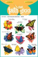 God's Beautiful Butterflies (6 Sheets, 54 Stickers) (Stickers Faith That Sticks Series) Stickers