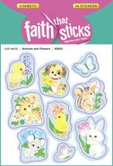 Animals & Flowers (6 Sheets, 54 Stickers) (Stickers Faith That Sticks Series) Stickers
