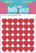 Miniature Red Heart (6 Sheets, 216 Stickers) (Stickers Faith That Sticks Series) Stickers