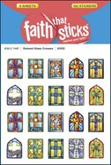 Stained Glass Crosses (6 Sheets, 10 Designs, 120 Stickers) (Stickers Faith That Sticks Series) Stickers