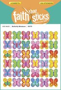 Butterfly Miniature (6 Sheets, 216 Stickers) (Stickers Faith That Sticks Series)