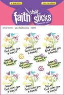 Love You Bunches (6 Sheets, 72 Stickers) (Stickers Faith That Sticks Series)