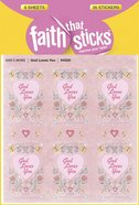 God Loves You, Embossed (6 Sheets, 54 Stickers) (Stickers Faith That Sticks Series) Stickers