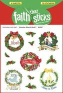 Wreaths Stick-N-Sniff (6 Sheets, 72 Stickers) (Stickers Faith That Sticks Series)