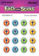 Cross Symbols (1 Sheet, 16 Vinyl Covered Stickers) (Stickers Faith That Sticks Series) Stickers